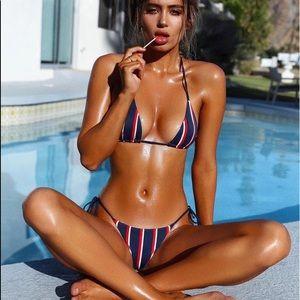 Navy Strip Bikini